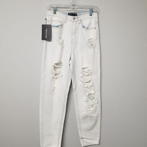 Pretty Little Thing Mom Ripped Jean NWT 4